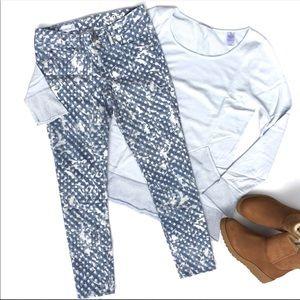 Gap Always Skinny polka dot print splatter jean 27